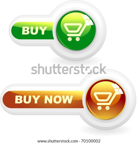 BUY NOW. Shopping cart. Vector button for online sale. - stock vector