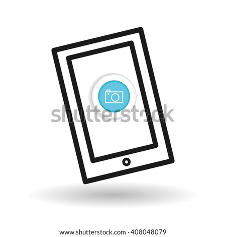 Buy online over white background, mobile icon
