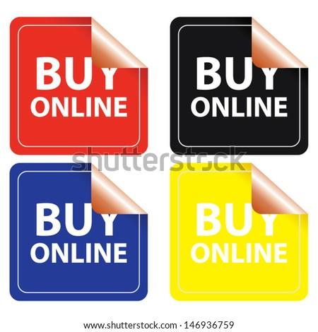 Buy online stickers set. Vector - stock vector