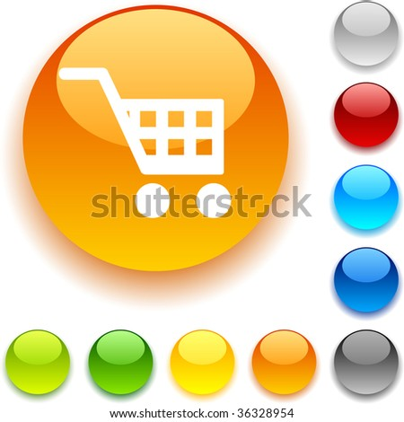 Buy shiny button. Vector illustration.