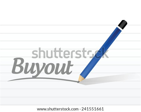 buyout sign message illustration design over a white background - stock vector