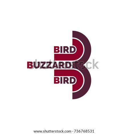 stock-vector-buzzard-logo-b-letter-73676