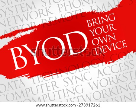 BYOD acronym word cloud concept - stock vector