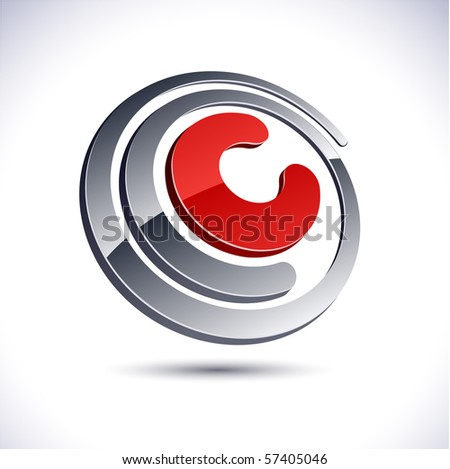 C 3d vector icon such logos.  - stock vector
