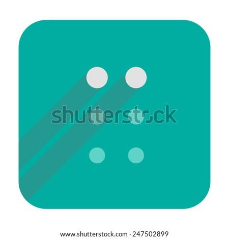 C letter in Braille - stock vector
