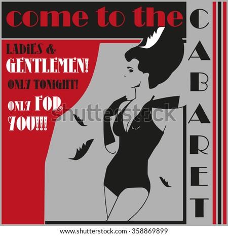 cabaret poster - stock vector