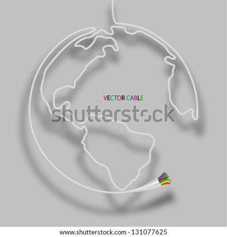 Cable globe. Vector illustration. - stock vector