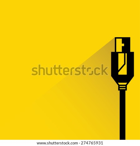 cable wire computer, plug - stock vector