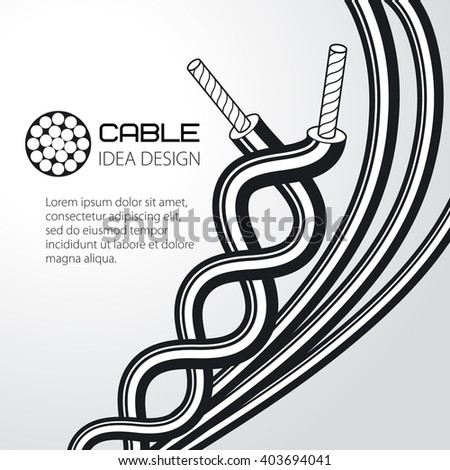 Cable Wire Vector Design Stock Vector 403694041 - Shutterstock