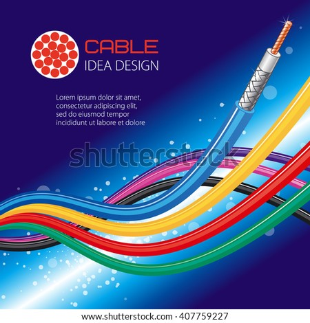 Cable Wire Vector Design Stock Vector 407759227 - Shutterstock