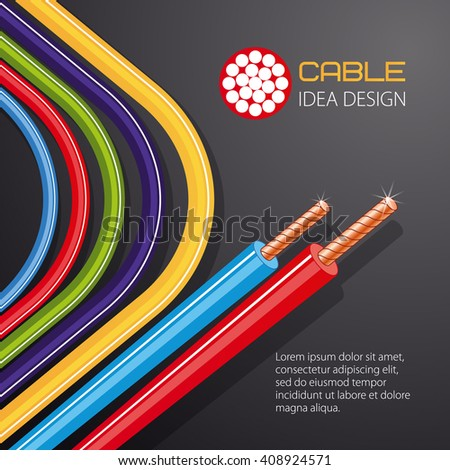 Cable Wire Vector Design Stock Vector 408924571 - Shutterstock