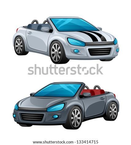 Cabriolet - stock vector