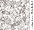 cacao pod seamless pattern - stock vector
