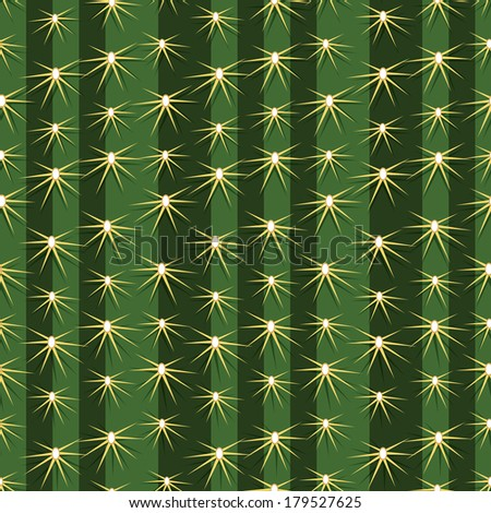 Cactus cacti plant texture seamless pattern vector background prickly pear close up. - stock vector