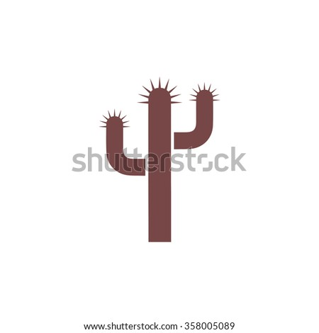 Cactus. Colorful vector icon. Simple retro color modern illustration pictogram. Collection concept symbol for infographic project and logo - stock vector