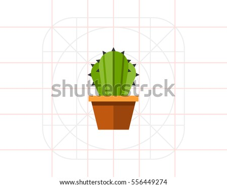 Cactus flower pot 2 stock vector 556449274 shutterstock cactus in flower pot 2 ccuart Image collections