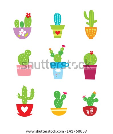 cactus plant vector - stock vector