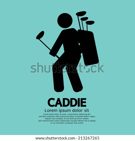 Caddie Graphic Sign Vector Illustration - stock vector