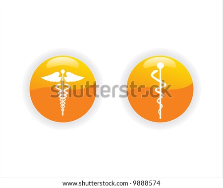 caduceus medical logo vector illustration - stock vector