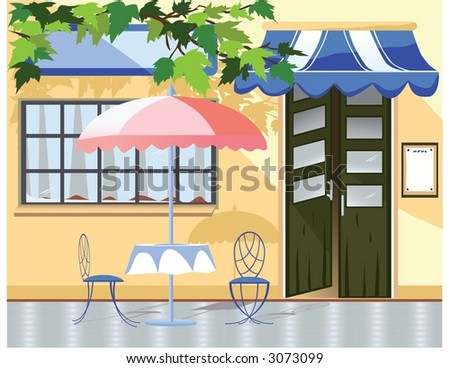 Cafe - stock vector