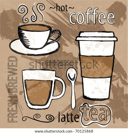 cafe art - stock vector