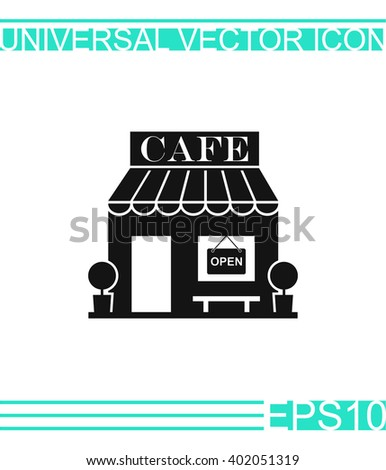 Cafe icon vector.  - stock vector