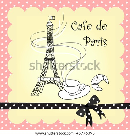 Cafe in Paris - stock vector