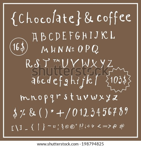 cafe letters - stock vector