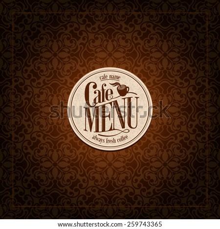 Cafe Menu Design Vintage card  - stock vector