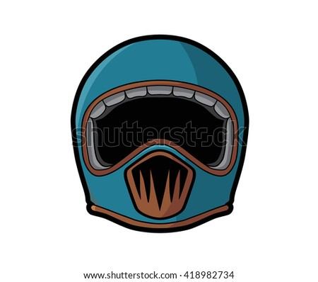 Cafe Racer Helmet Full Face