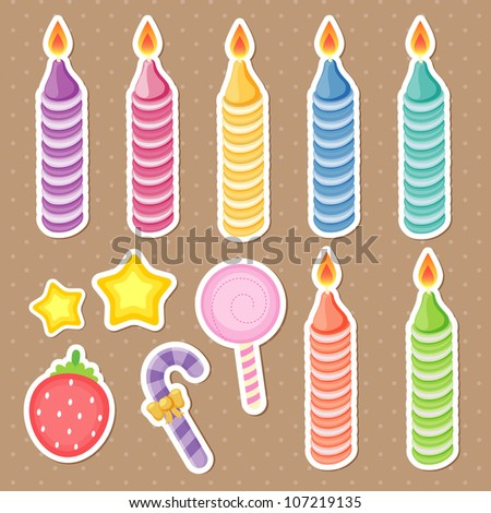 cake accessories - stock vector