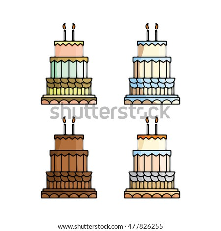 Cake Collection Vector Icon