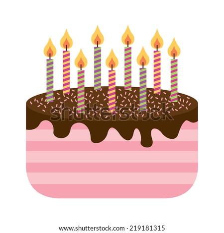 Vector Birthday Cake Candles Stock Vector  Shutterstock - Graphic birthday cake
