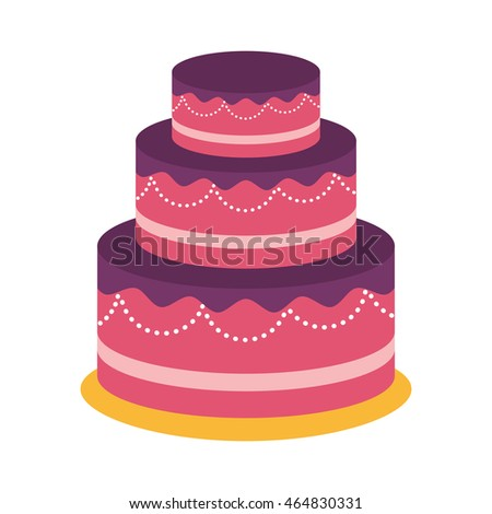 cake party cream bakery birthday icon. Isolated and flat illustration. Vector graphic
