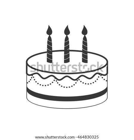 cake party cream bakery icon. Isolated and flat illustration. Vector graphic