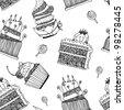 Cake pattern vector - stock vector