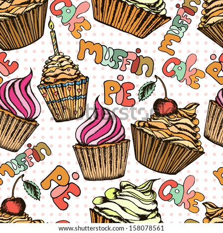 cake seamless pattern can be used for wallpaper, website background, textile printing