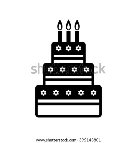Cake vector icon on white background