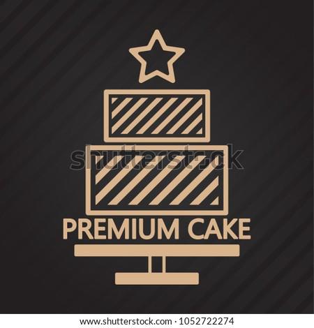 Cake Vector Logo Cake Symbol Vector Stock Photo Photo Vector