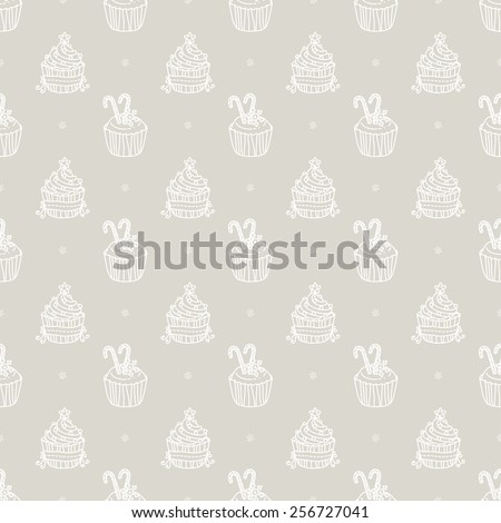 cakes pattern - stock vector