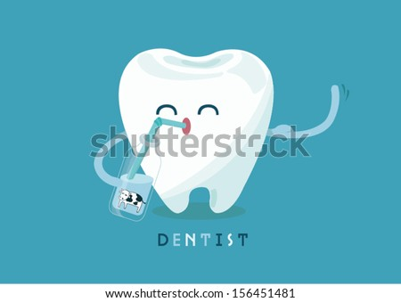 calcium for tooth - stock vector