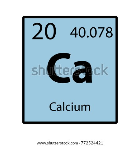 Calcium periodic table element color icon stock vector 772524421 calcium periodic table element color icon on white background vector urtaz Gallery