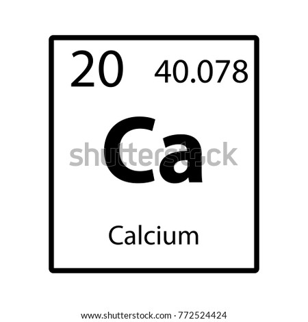 Calcium periodic table element icon on stock vector 2018 772524424 calcium periodic table element icon on white background vector urtaz Gallery