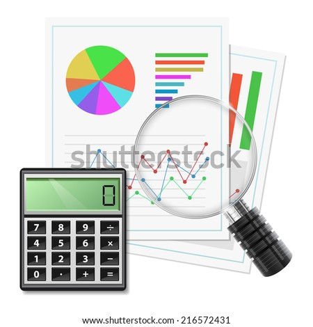 Calculate Growth  - stock vector