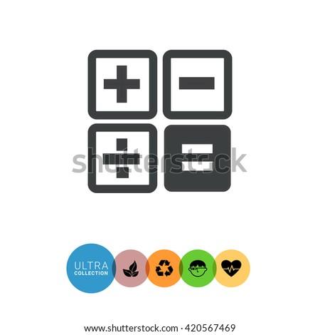 Calculator buttons  - stock vector