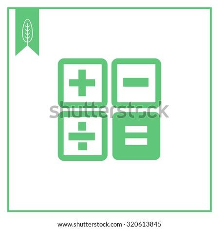 Calculator buttons icon - stock vector