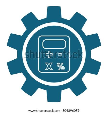 Calculator digital design, vector illustration 10 eps graphic - stock vector