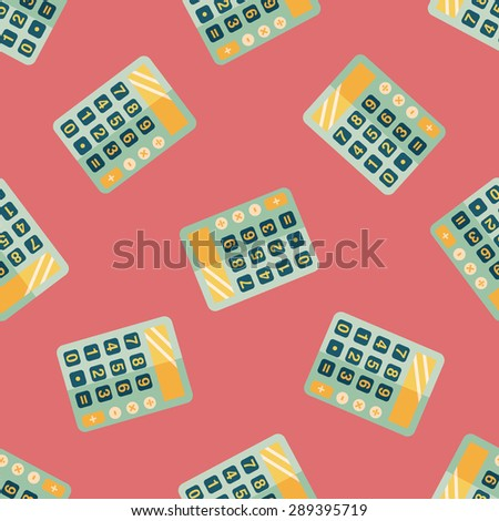 calculator flat icon,eps10 seamless pattern background - stock vector