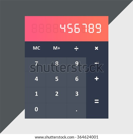 Calculator flat style, colorful, vector icon for info graphics, websites, mobile and print media. - stock vector