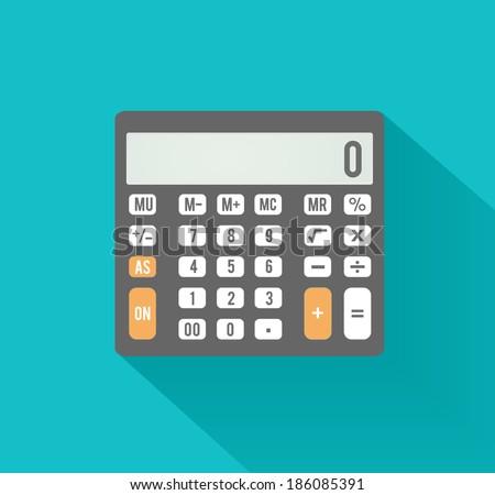 Calculator icon. Business concept with mathematics symbols - stock vector